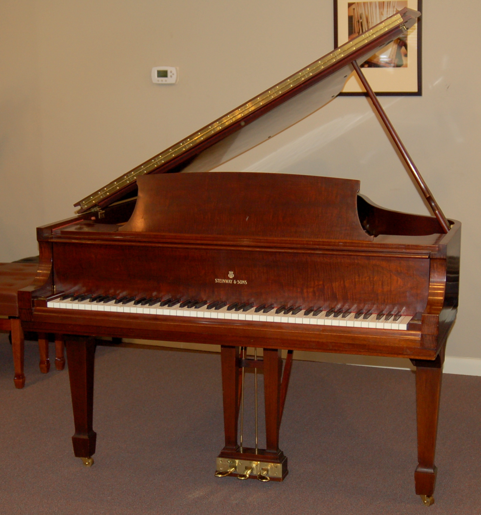 Grand pianos for sale charlottesville used new pianos for Small grand piano size